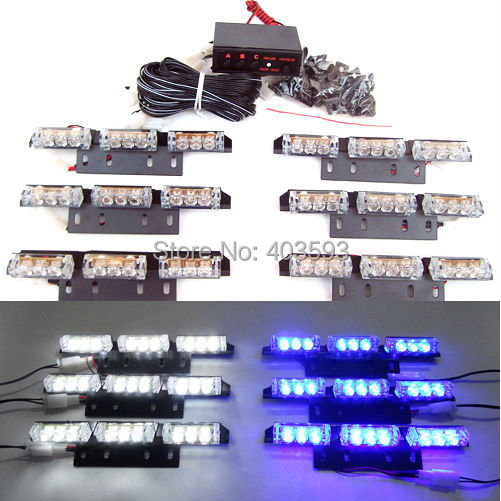 car 6x9 led 54led car truck emergency flashing strobe. Black Bedroom Furniture Sets. Home Design Ideas