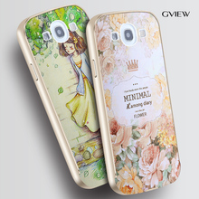 3D Relief PC Back Cover And Aluminum Metal Frame Case For Samsung Galaxy S3 i9300 Luxury Style Cell Phone Bags Case(China (Mainland))