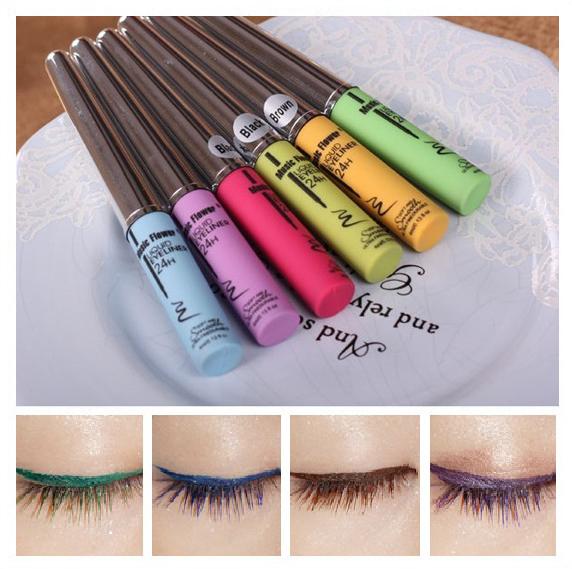 free shipping 10pcs/lot Harajuku cosplay multicolour eyeliner pen liquid eyeliner waterproof hard variegating