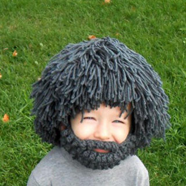 Дети ручной парик борода шляпы хобо безумный ученый раста-панк пещерный зимние вязать ...