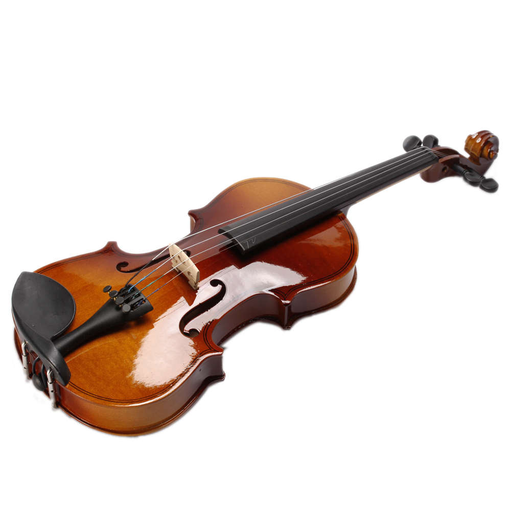 Фотография High quality New 4/4 Acoustic Violin + Case + Bow + Rosin Natural + Strings for Violin Beginner