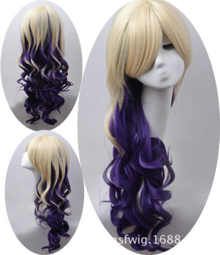 FREE SIPPING hot sale @ @ >>>Sexy Lady Light Blonde Long Hair Prom Hair Wigs Carnival Holidays(China (Mainland))
