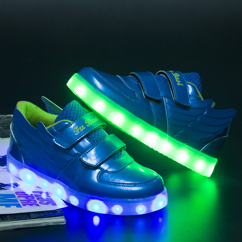 New Luminous shoes Childrens LED Night Light Boots Fashion Casual sneaker Sports Shoes For Boys tenis girl trainer<br><br>Aliexpress