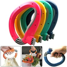 Portable Carry Food Machine Handle Carry Bag Hanging Ring Shopping Helper Tools - Color Random(China (Mainland))