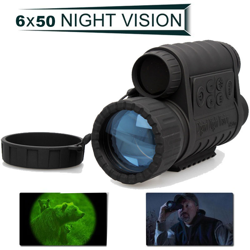 Bestguarder Lastest Upgraded WG-50 HD 720P Infrared Night Vision Scope IR Monocular Telescope 350m 6x50 Zoom Record DVR(China (Mainland))