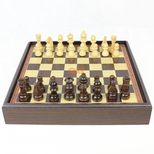 Hot sale red dragon phoenix leather box wooden table Wooden chess set / Free Shipping 1PCS(China (Mainland))
