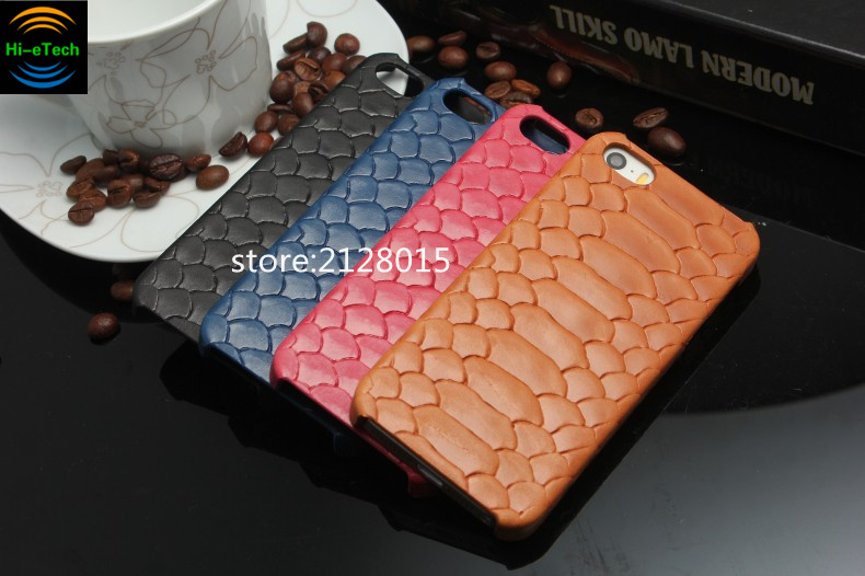 Fashion 3D Python Skin Snake Design Genuine Cow Leather Cover Case For iPhone 6 6S 6Plus 6Splus 5 5S SE Case Mobile Phone Cases(China (Mainland))