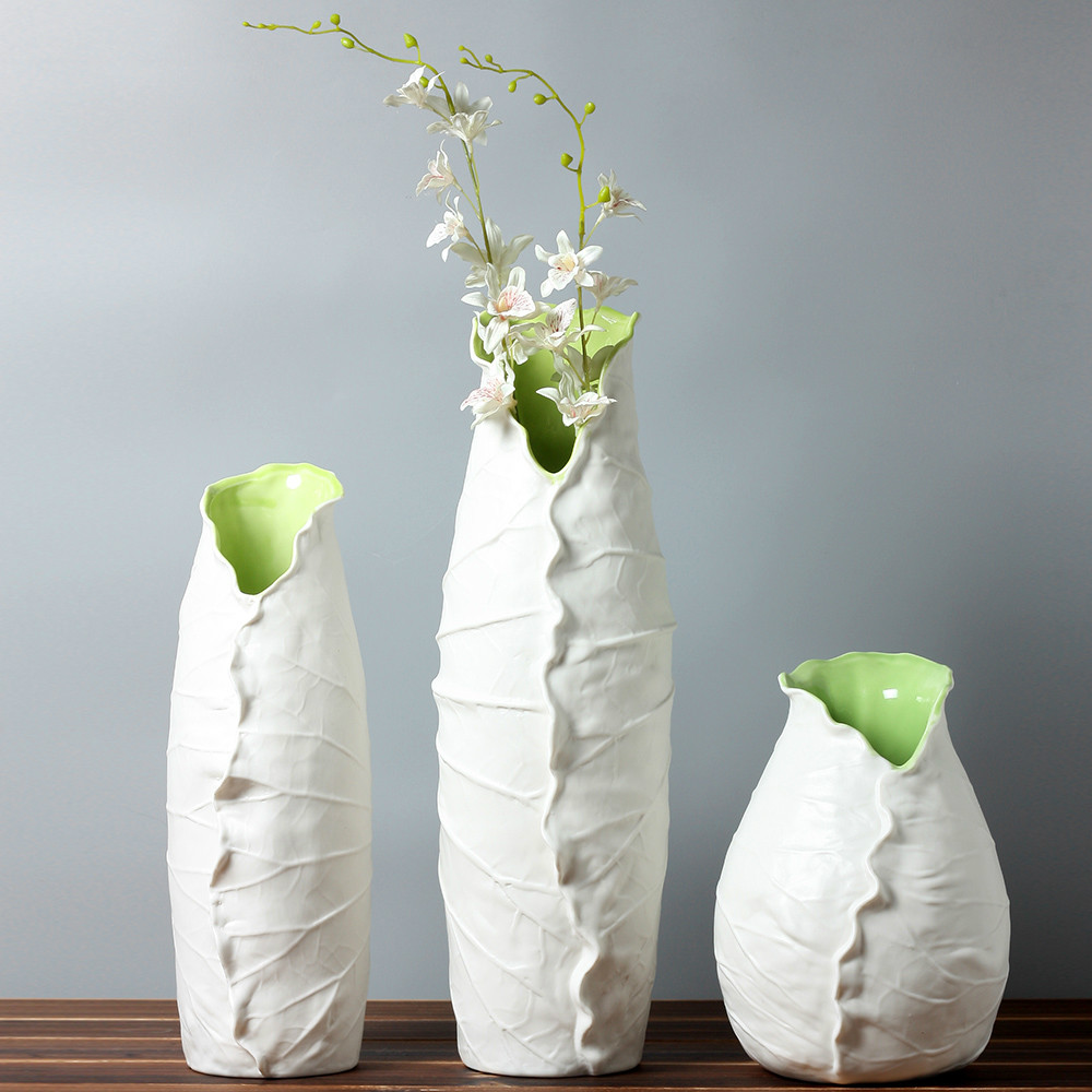 Modern vase trio of pure white ceramic bottle vases in modern a modern vase craftbnb reviewsmspy