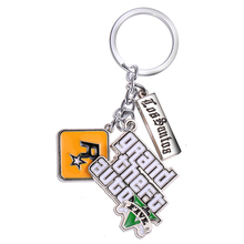 J&R Game PS4 GTA 5 keychain Grand Theft Auto 5 Key Chains For Men Fans Xbox PC Rockstar Key Ring Holder Cosplay Jewelry Llaveros