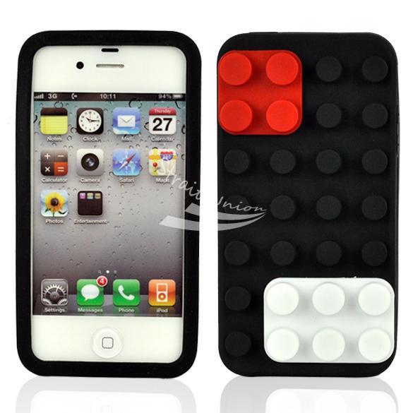 Silicone Skin Soft Back Case Cover Protector Apple iPhone 4 4G 4S Black - Zoe store