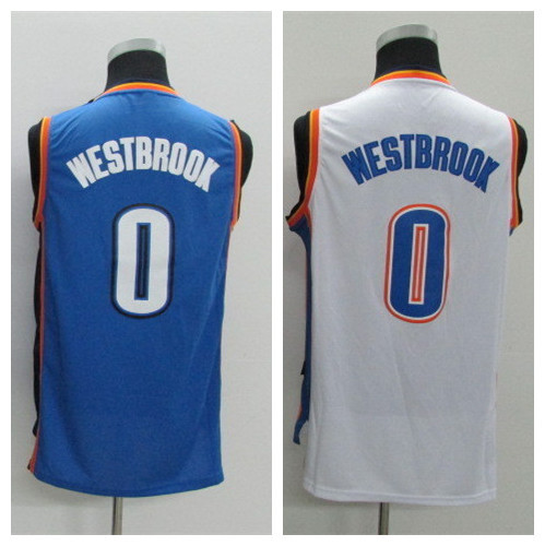 Youth #0 Russell Westbrook Blue White Kids Stitched Boys Basketball Jerseys Boy 2015 New Size S-XL Mix Order Free Shipping(China (Mainland))
