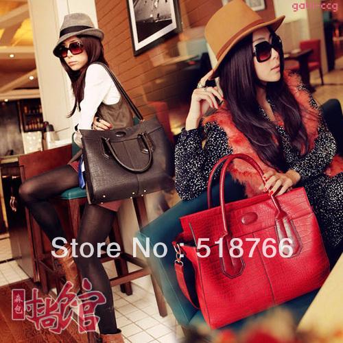 2013 New Fashion Vintage Leather Bag Women Designer Serpentine Pattern OL Shoulder Bag Commuter Handbag Free Shippin Retail