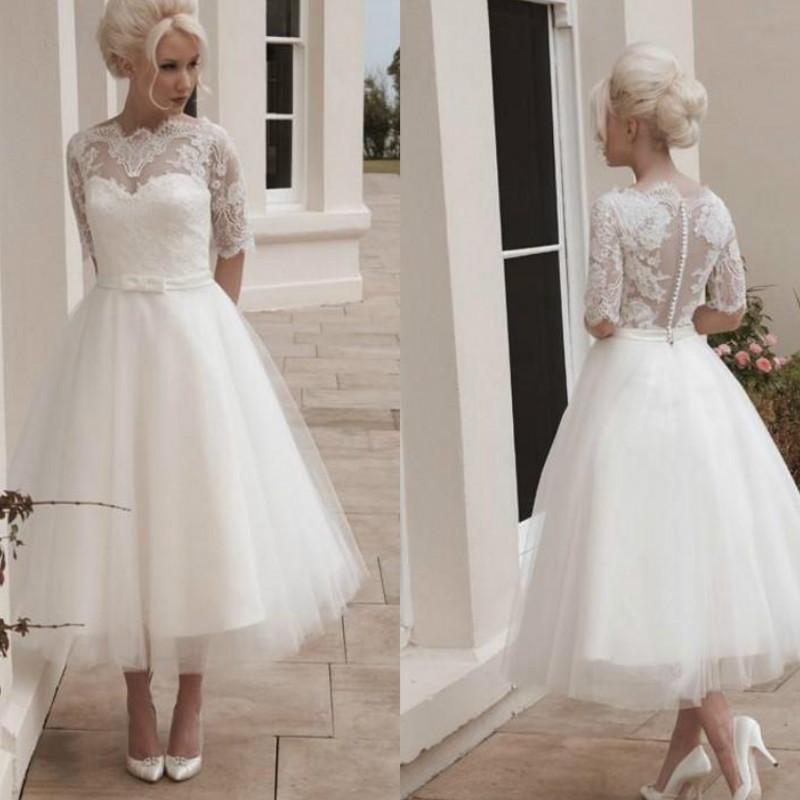 Tea Length Wedding Dresses Under 100 - Wedding Dresses
