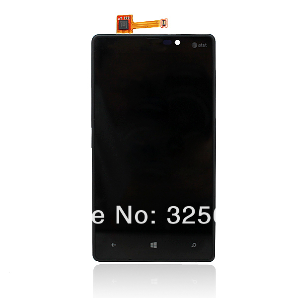 New Free shipping !! 5pcs /lot Lcd screen with the lcd display digitizer Assembly + frame for Nokia lumia 820 N820(China (Mainland))