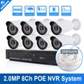 1080P IP Camera Video Security System 8CH PoE NVR Recorder System Kit Bullet Camera System 8
