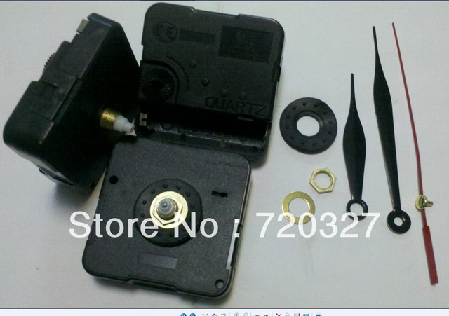 whole sale  clock movement kit movement clock mechanism for wall clock 5pcs/lot,including three hands washer nut