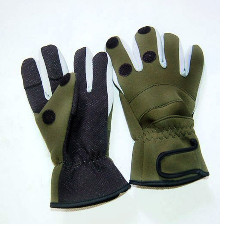 Gloves With Fingertips Out: Waterproof Winter Fishing Glove Thicken Warm 3 Fingers Cut