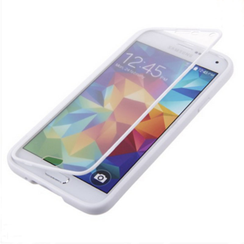 Hot worldwide Flip TPU Wrap Up Phone Cover Case for Samsung Galaxy S5 SV i9600 G900(China (Mainland))