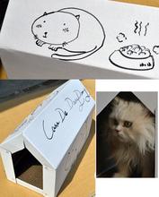 50cm large cat room duplex corrugated cat scratch board claw cat litter(China (Mainland))
