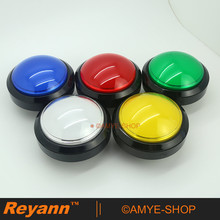 New 5 pcs Lot Classic White 100MM LED Lit Push Button for Arcade Game Machines Pop