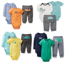 Original Carters Baby Boys Girls Clothings Sets, conjuntos roupas de bebe Carters Baby Models (Bodysuits+Pants)3pcs Set(China (Mainland))