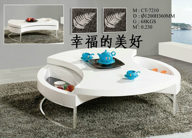 Small Apartment Living Room Coffee Table Multi Function Folding Lift Rotating Storage Tea