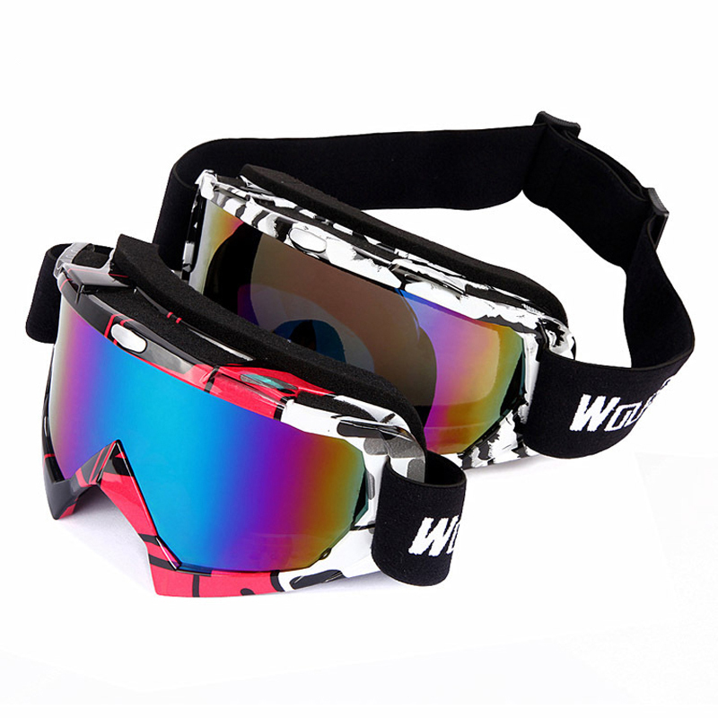 WOLFBIKE UV Protection Ski Goggles Outdoor Sport CS Goggles Men Women Cycling Motorcycle Glasses Eyewear 2 Color Onslae(China (Mainland))