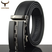 Buy COWATHER 2016 Automatic Buckle Metal Belts Men Genuine Leather Belt high grade new style Leather Men Belts free for $11.59 in AliExpress store