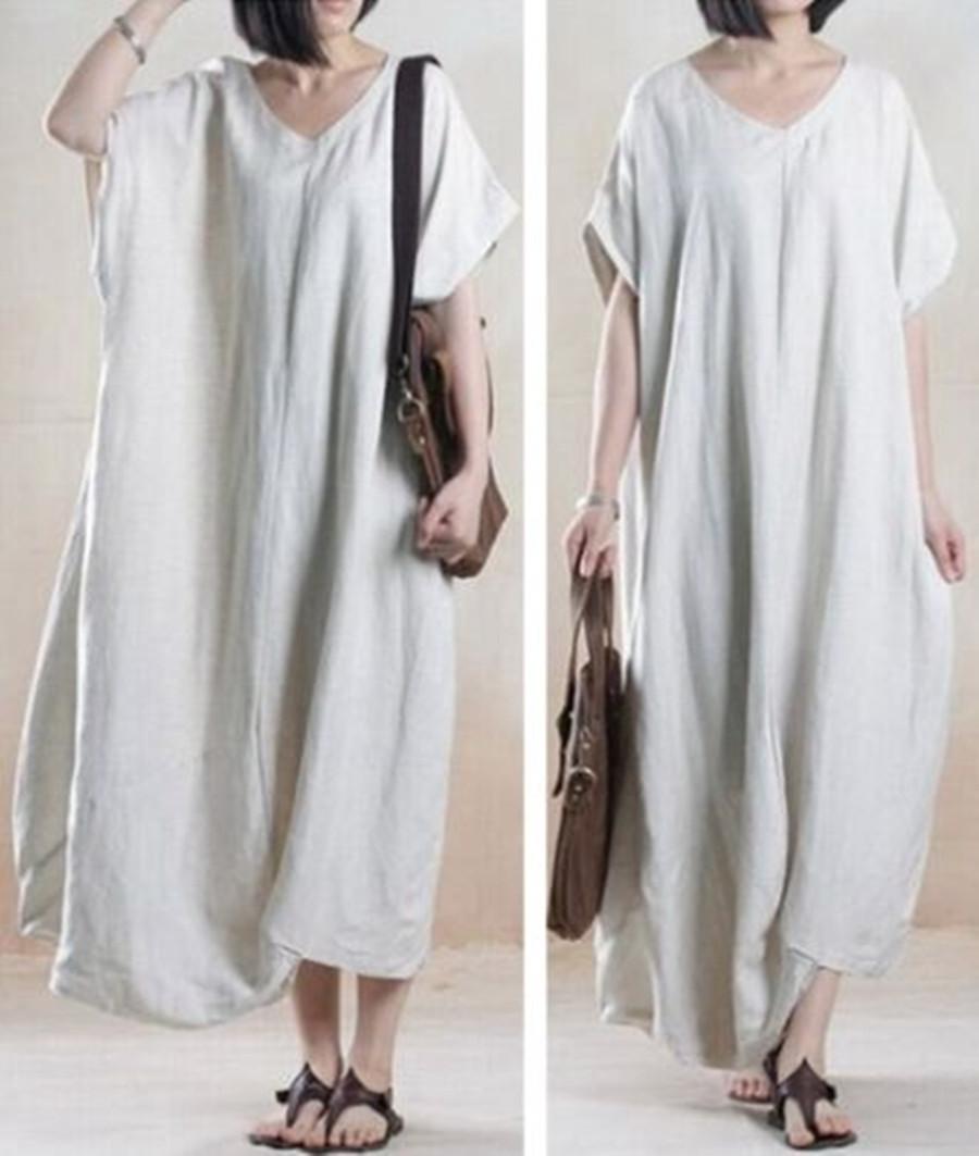 Cotton dresses women plus sizes