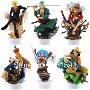 anime figures Japanese One Piece CHESS PIECE COLLECTION 8.5cm-11cm PVC Figure For Christmas Gifts Free Shipping 6 pcs