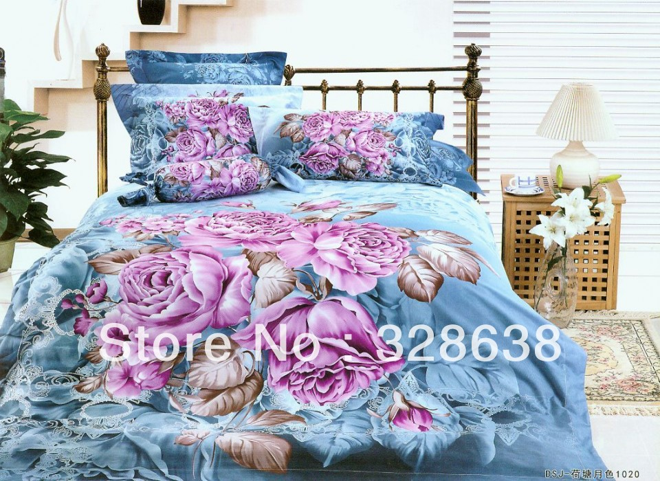 princess bedding sets queen king size girls colorful bedclothes 3d print bedsheet king queen. Black Bedroom Furniture Sets. Home Design Ideas