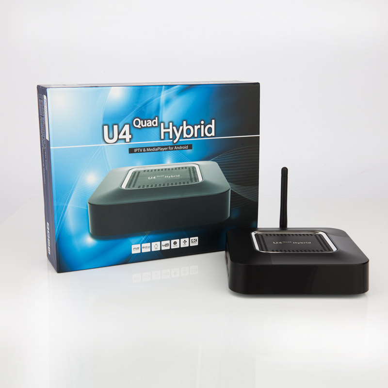 FREE DVB-S2/DVB-T2/T/C ATSC TUNER U4 Quad Hybrid Hi3796M 1GB DDR3 8GB eMMC Full Loaded KODI TVHeadend(China (Mainland))