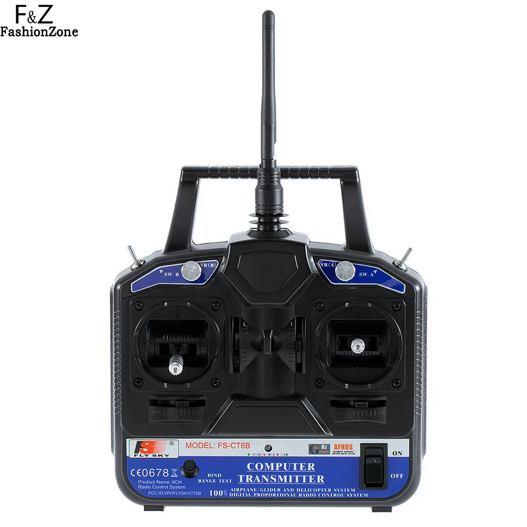FLY SKY 2.4G FS-CT6B 6 CH Radio Model RC Transmitter Receiver Control For RC Helicopter Plane Quadcopter Glider Fashionzon US6(China (Mainland))