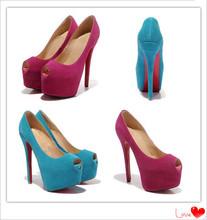 2014 Latest Design Women's Fashion High Heels Brand Red Bottom Sexy Women Pumps Platform Shoes Free Shipping Shoes Woman(China (Mainland))
