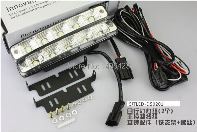 Free shipping 10W 12V E4 LED car daytime running light with Switch off on Metal housing