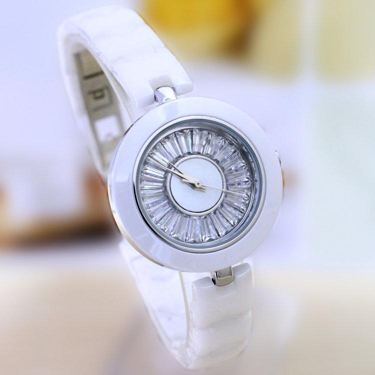 Simple Designer Milisha Ceramic Women Dress Watches Elegant Lady Vogue Quartz Wrist watch Zircon Dial,Korean Style Reloj NW42<br><br>Aliexpress
