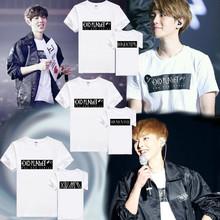 KPOP EXO Luxion Tshirt 2nd Seoul Concert exo planet 2 printed t-shirt 100% cotton short sleeve shirt kpop t shirt all member