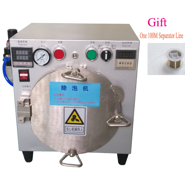 UPS High Pressure Mini Autoclave LCD air bubble remover Lcd Refurbishment Machine for iPhone Samsung without air compressor(China (Mainland))