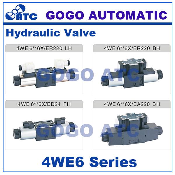 GOGO High quality 4WE6 6X series oil valve 24v dc 12v dc 110v ac 220v ac hydraulic solenoid directional valves(China (Mainland))