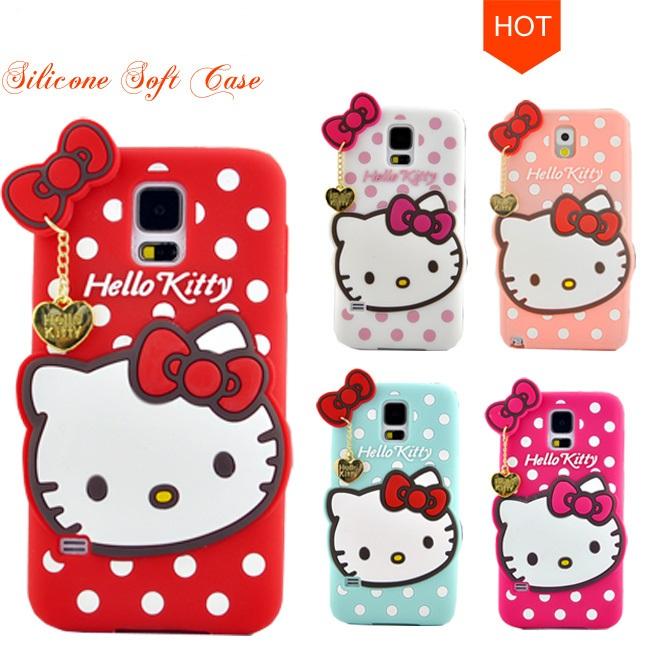 Distributor Grosir Silicone Hello Kitty Polkadot Ribbon Murah
