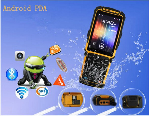 Handheld Android rugged PDA with RFID/barcode scanner/WIFI/GPS/PGPRS(China (Mainland))