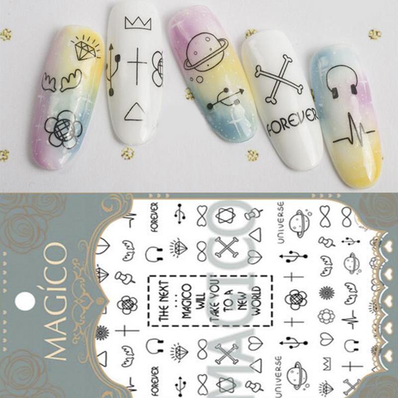 1 Sheet Fashion Ultrathin Adhesive 3D Nail Sticker Different Patterns Decal 10.3*8cm Nail Decoration(China (Mainland))