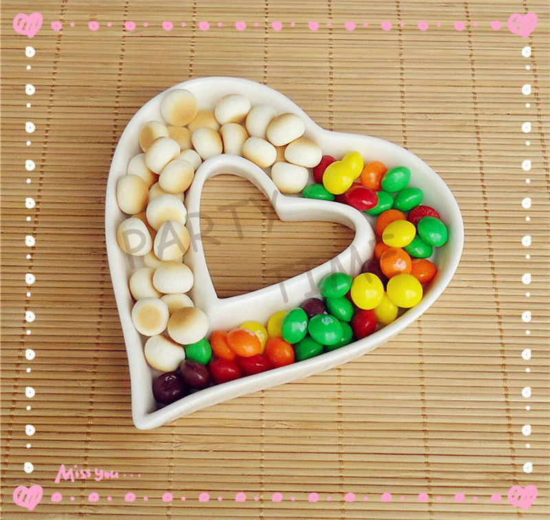 Heart Shape Dish, Wedding Decoration Dish, Ceramic Dish for Party(China (Mainland))
