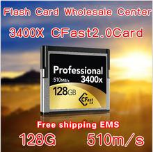 128GB Professional 3400x CFast 2.0 card 510MB/s free express shipping(China (Mainland))