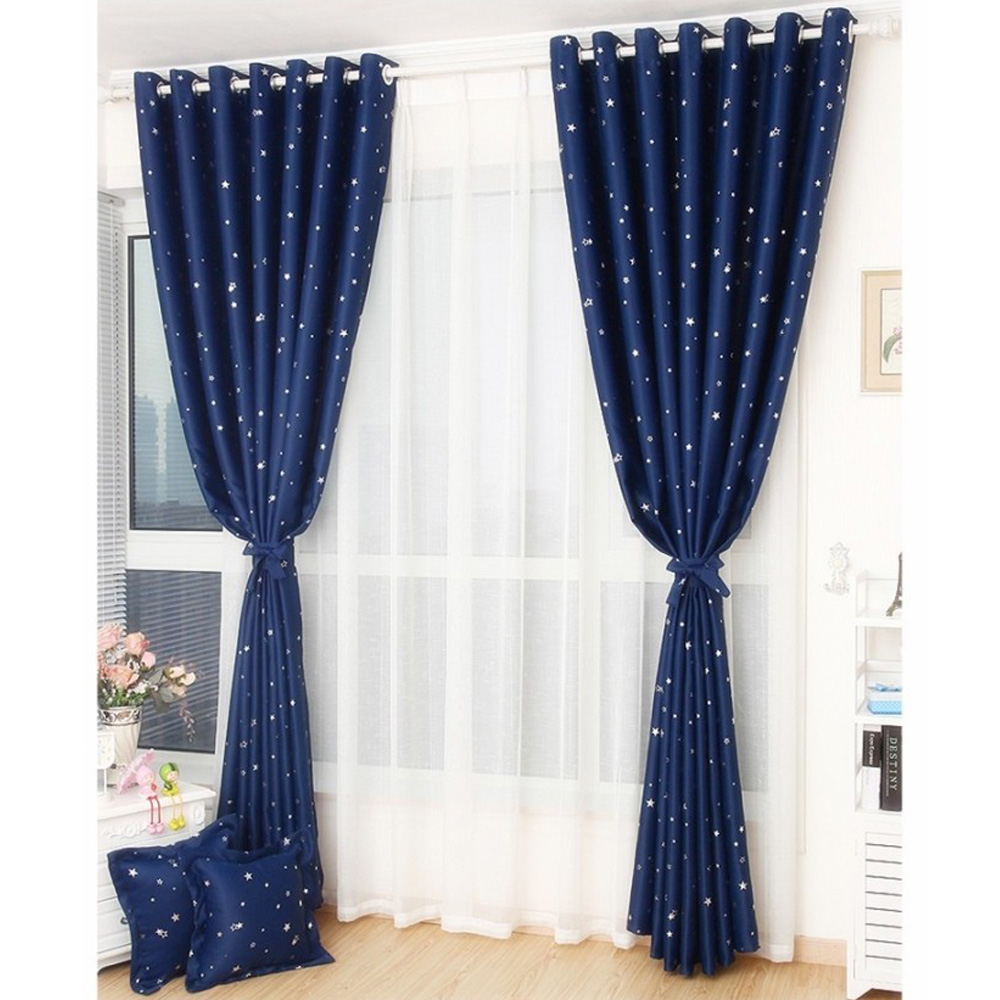 Anself 100*250cm Punching Grommet Blackout Curtain Soft Window Cortinas Decoration Draperies for Living Room Bedroom 2PCS/set(China (Mainland))