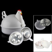 NEW Chicken Shaped Microwave 4 Eggs Boiler Cooker NOVELTY Kitchen Cooking Appliances Steamer Home Tool 11-073(China (Mainland))