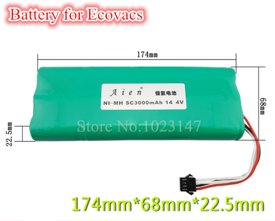1x Replacement 14.4V 3000mAh Battery Back for Ecovacs Deepoo Deebot 560 570 580 Robotic Vacuum Cleaner(China (Mainland))