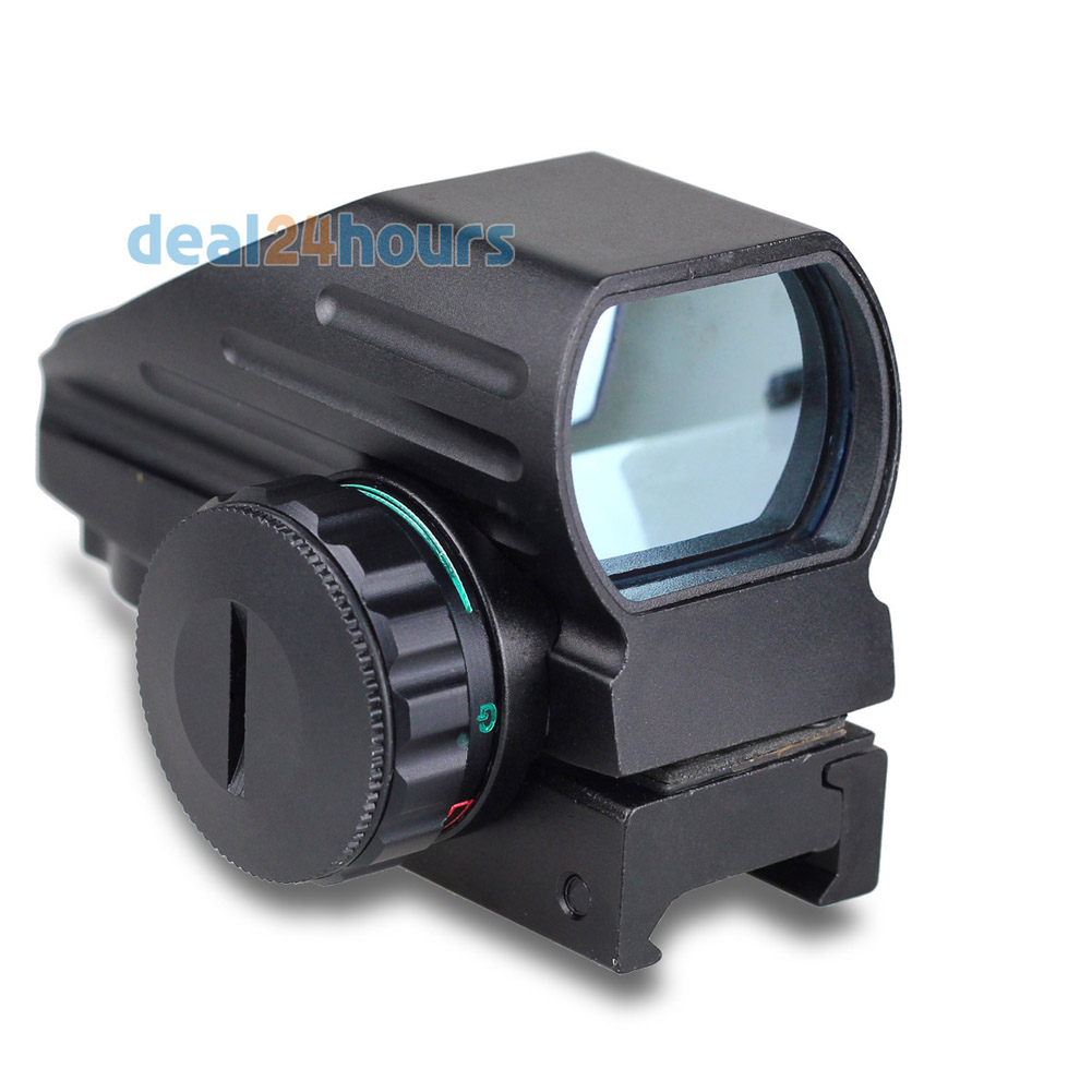 Tactical Reflex Red/Green Laser 4 Reticle Holographic Projected Dot Sight Scope Airgun Rifle sight Hunting Rail Mount 20mm(China (Mainland))