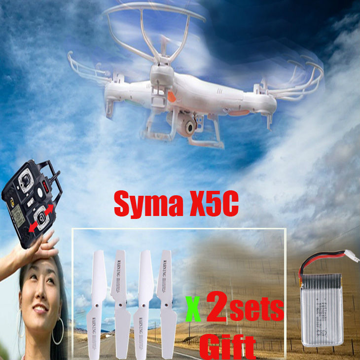 SYMA X5C 4CH 2.4G RC toys Quadcopter Remote Control Helicopters Drone Built-in Camera with Memory Card outdoor rc toys(China (Mainland))