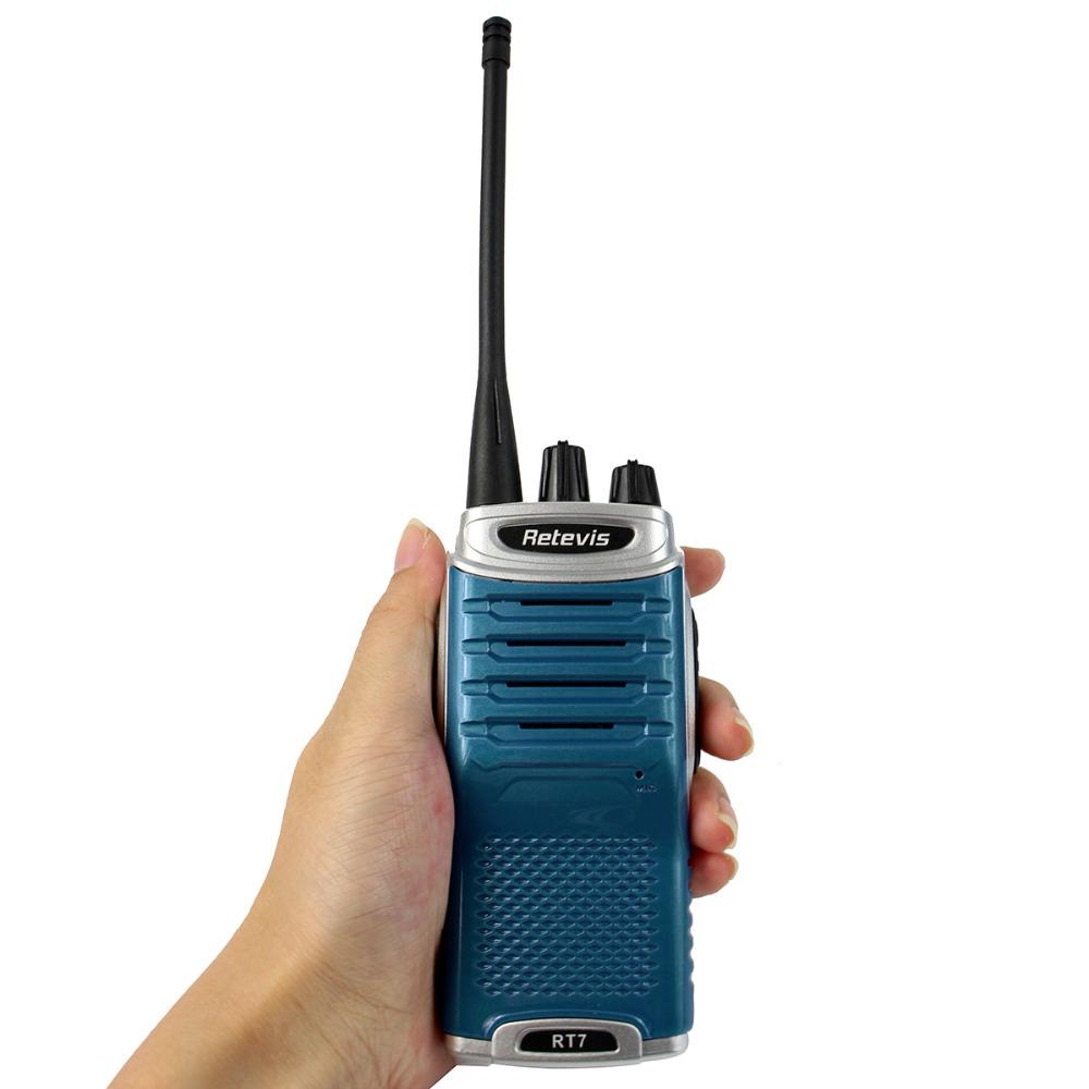 2 pcs Walkie Talkie Retevis RT7 5W 16 CH UHF 400-470MHz FM Radio Scan Portable Radio Blue A9111(China (Mainland))